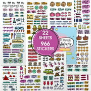 Stunning Planner Stickers - Variety & Value Pack of 966 Beautiful Stickers and Accessories Designed to Complement Your Planner, Journal and Calendar in 2020 by Savvy Bee