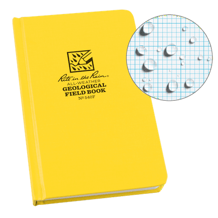 Rite in the Rain Weatherproof Hard Cover Notebook, 4.75