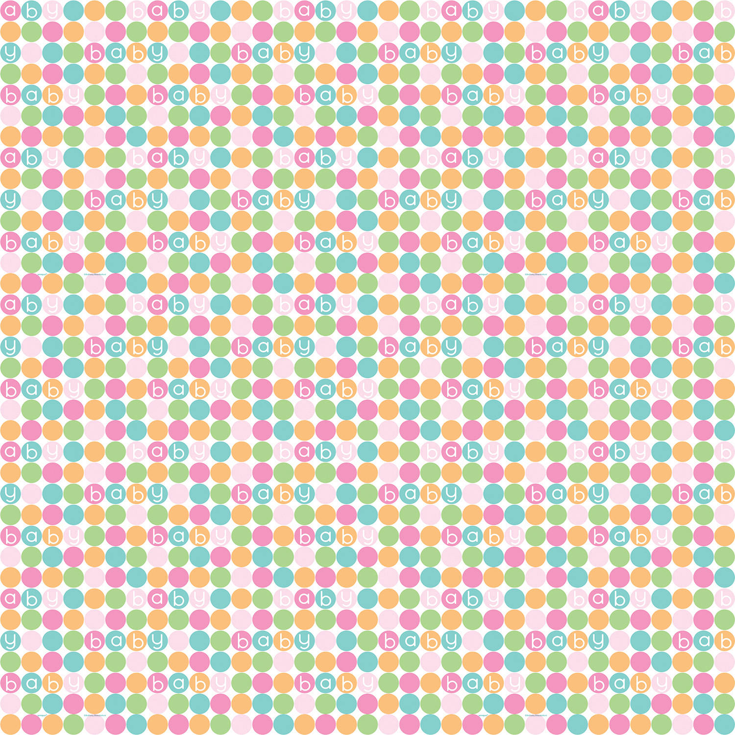 Pastel Baby Shower Wrapping Paper, 5 x 2.5 ft, 1ct