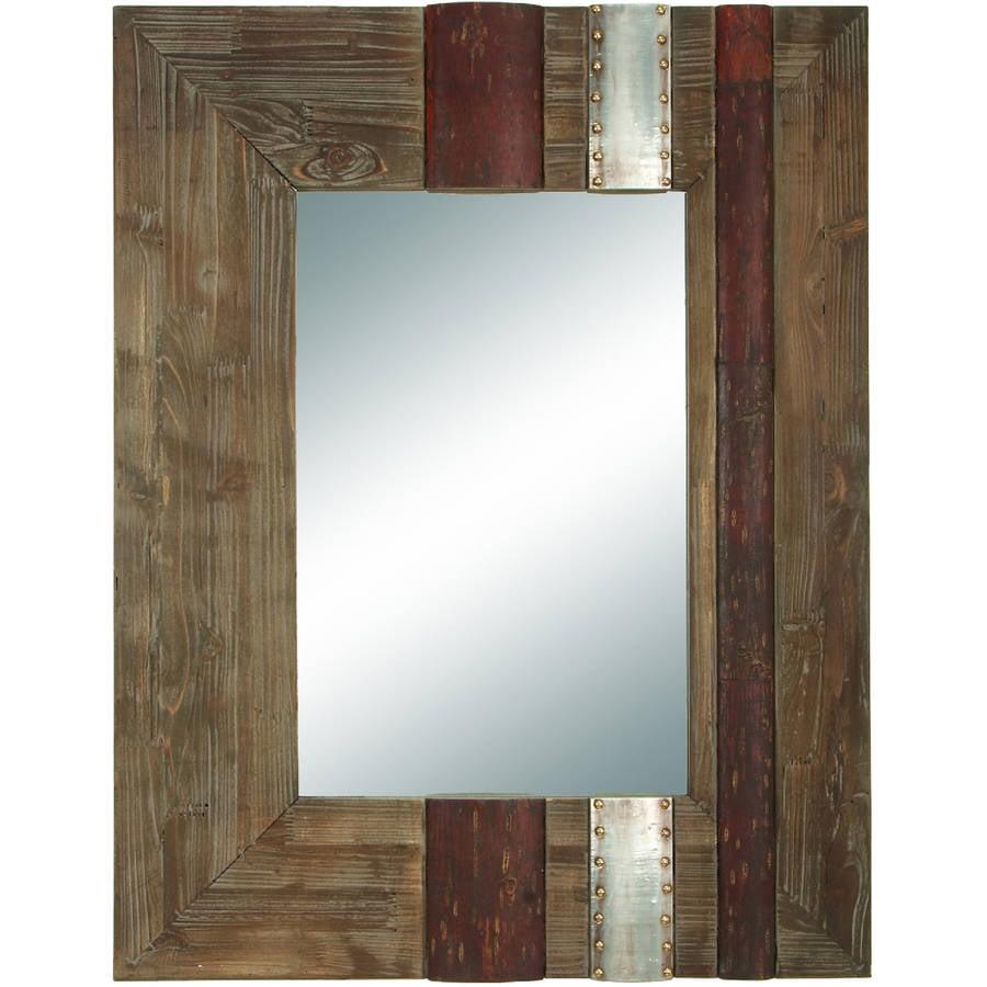36 Inches High Wood Mirror Beautifully Designed Rectangular