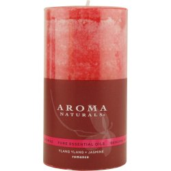 Romance Aromatherapy One 2.75 X 5 Inch Pillar Aromatherapy Candle. Combines The Essential Oils Of Lavender And Tangerin