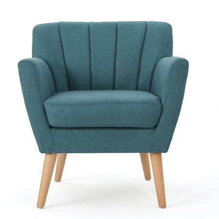 Amazing Madelyn Mid Century Modern Fabric Club Chair Dark Teal Machost Co Dining Chair Design Ideas Machostcouk
