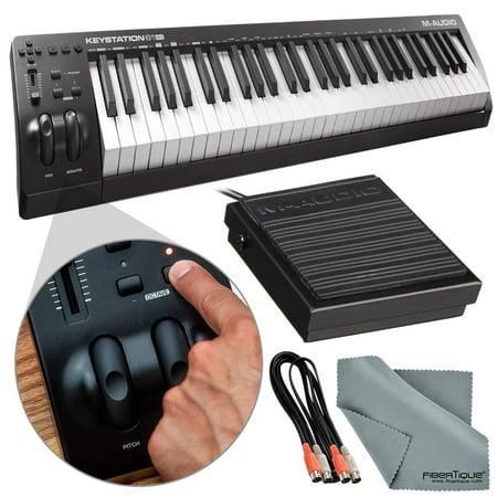 m audio keystation 61 ii midi keyboard controller and accessory bundle w keyboard sustain pedal. Black Bedroom Furniture Sets. Home Design Ideas