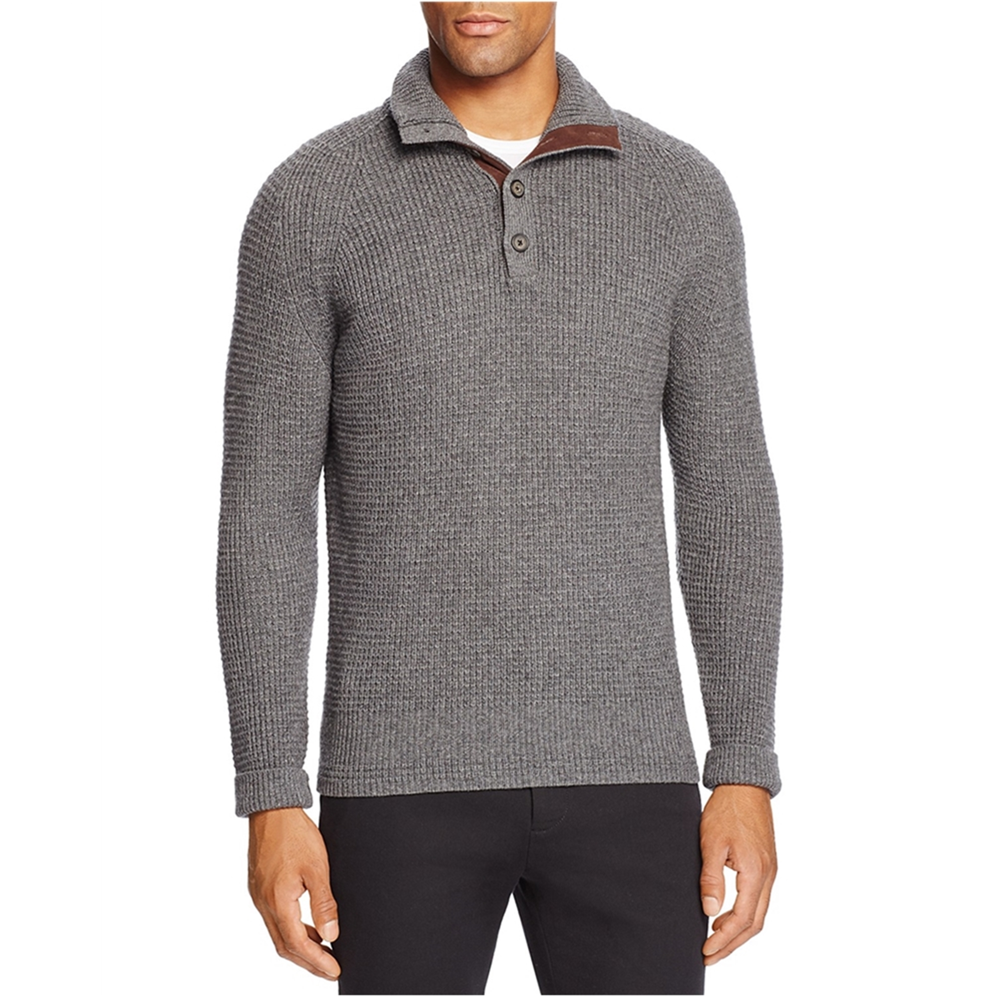 Bloomingdale's Bloomingdale's Mens Cashmere Blend Pullover Sweater, grey, Small