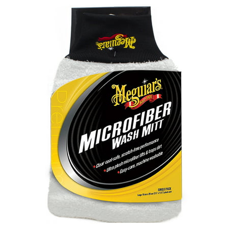Meguiar's X3002 Microfiber Wash Mitt – Super-Thick Reusable Wash Mitt for Ultimate