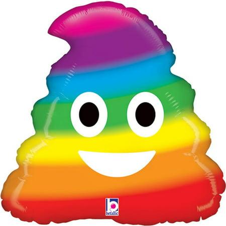 Emoji Rainbow Poo Foil Balloon 20