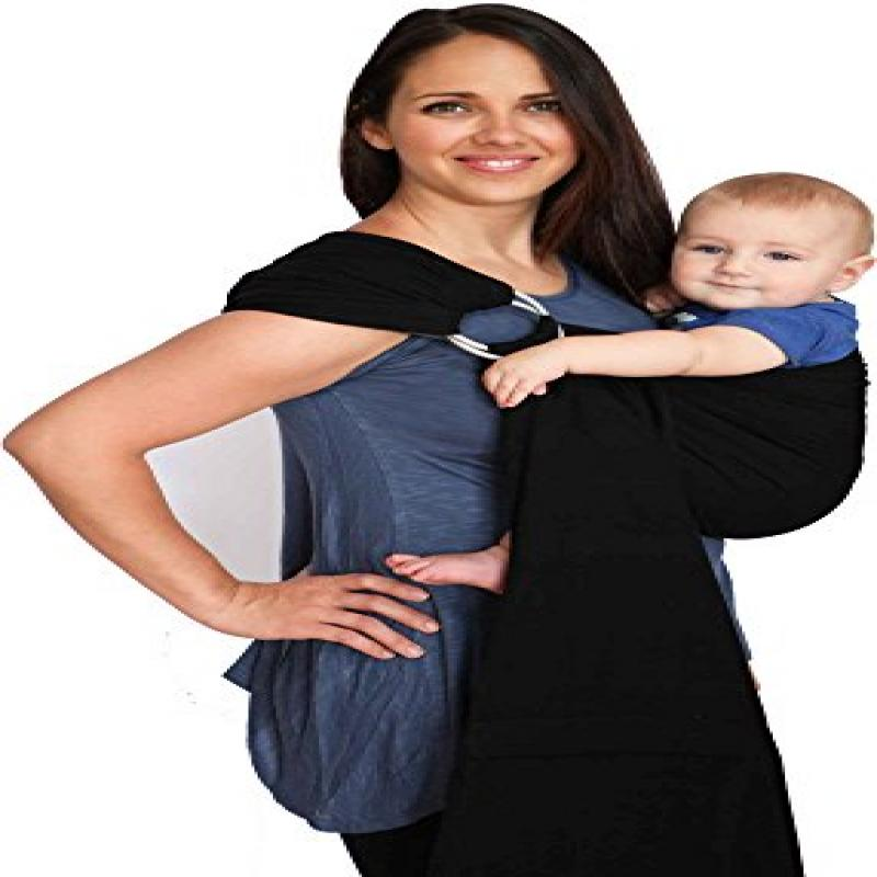 Maya Wrap Lightly Padded Ring Sling Baby Carrier - Black ...
