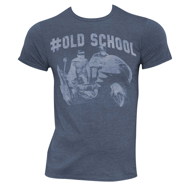 Batman Heather Blue #Old School Tee Shirt by