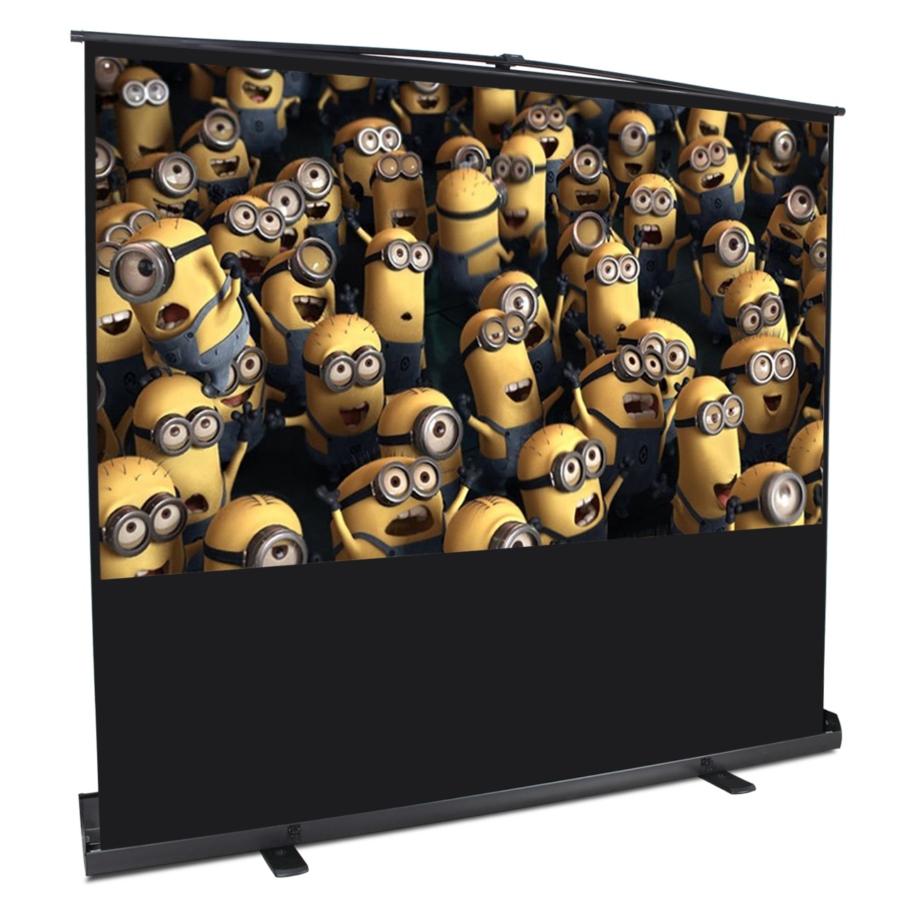 Arksen Indoor Outdoor Portable Movie Screen 80 Inch 4:3 Home Cinema HD Projector Screen Pull Up w Aluminium... by Arksen
