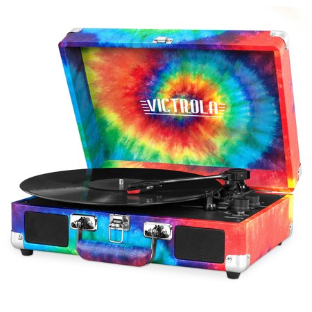 Gucci Vintage Tie - Victrola Bluetooth Suitcase Record Player with 3-speed Turntable Tie Dye
