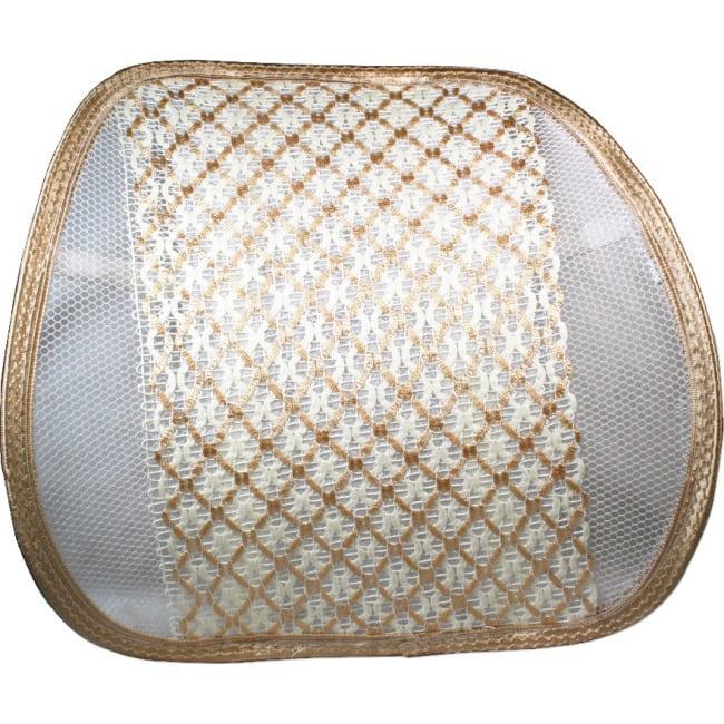 QVS Premium Ergonomic Lumbar Back Support with Woven Pad