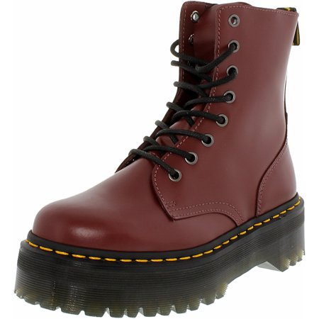 Dr. Martens Women's Jadon Cherry Ankle-High Leather Boot - 10M - Dr Martens On Girls