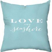 Checkerboard, Ltd Love the Seashore Outdoor Throw Pillow
