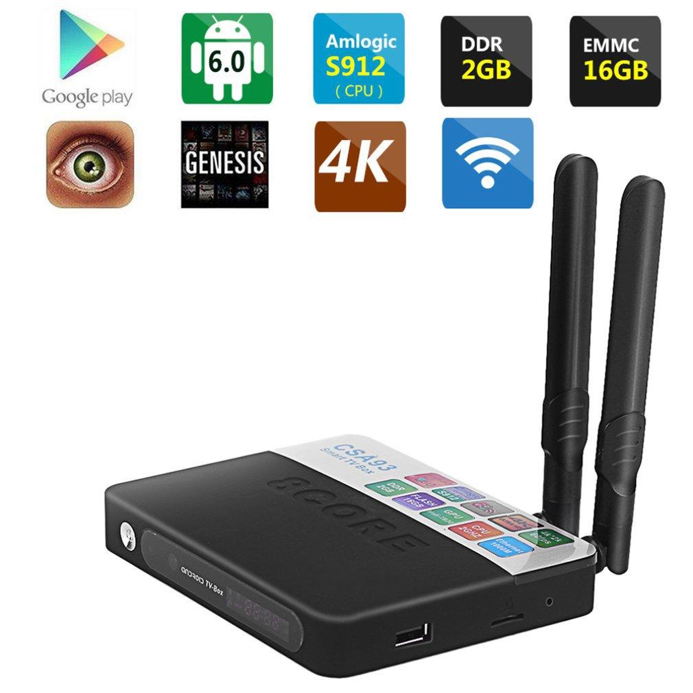 Advanced CSA93-S912 Octa Core Smart TV Box Top 2.4GHZ Wir...