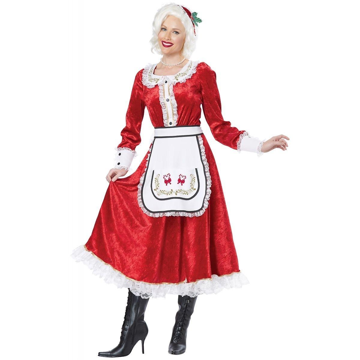 5dbc8f2539f99 Classic Mrs. Claus Adult Costume Fancy Dress Red Christmas Santa ...