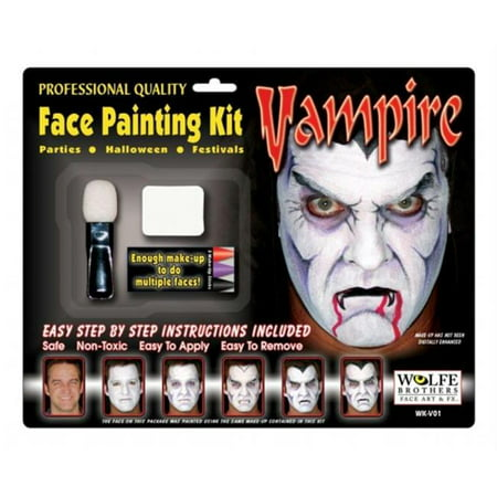 Costumes For All Occasions Wfv01 Vampire Makeup Kit Wolfe Bros