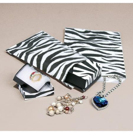 - 100 Bags Zebra Print  Paper Bags  Gift & Merchandise Bags