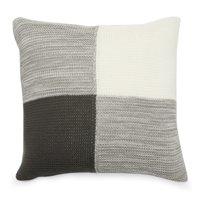 "MoDRN Industrial Colorblock Knit Decorative Throw Pillow, 20"" x 20"""