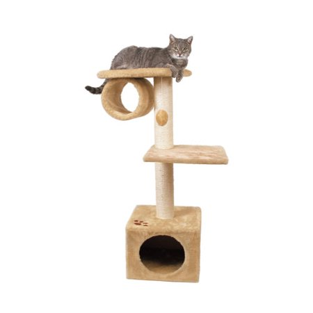 Trixie Pet Products San Fernando Cat Tree  Platinum Gray