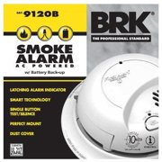 BRK Smoke Alarm, Interconnectable, Hardwired w/Battery Backup