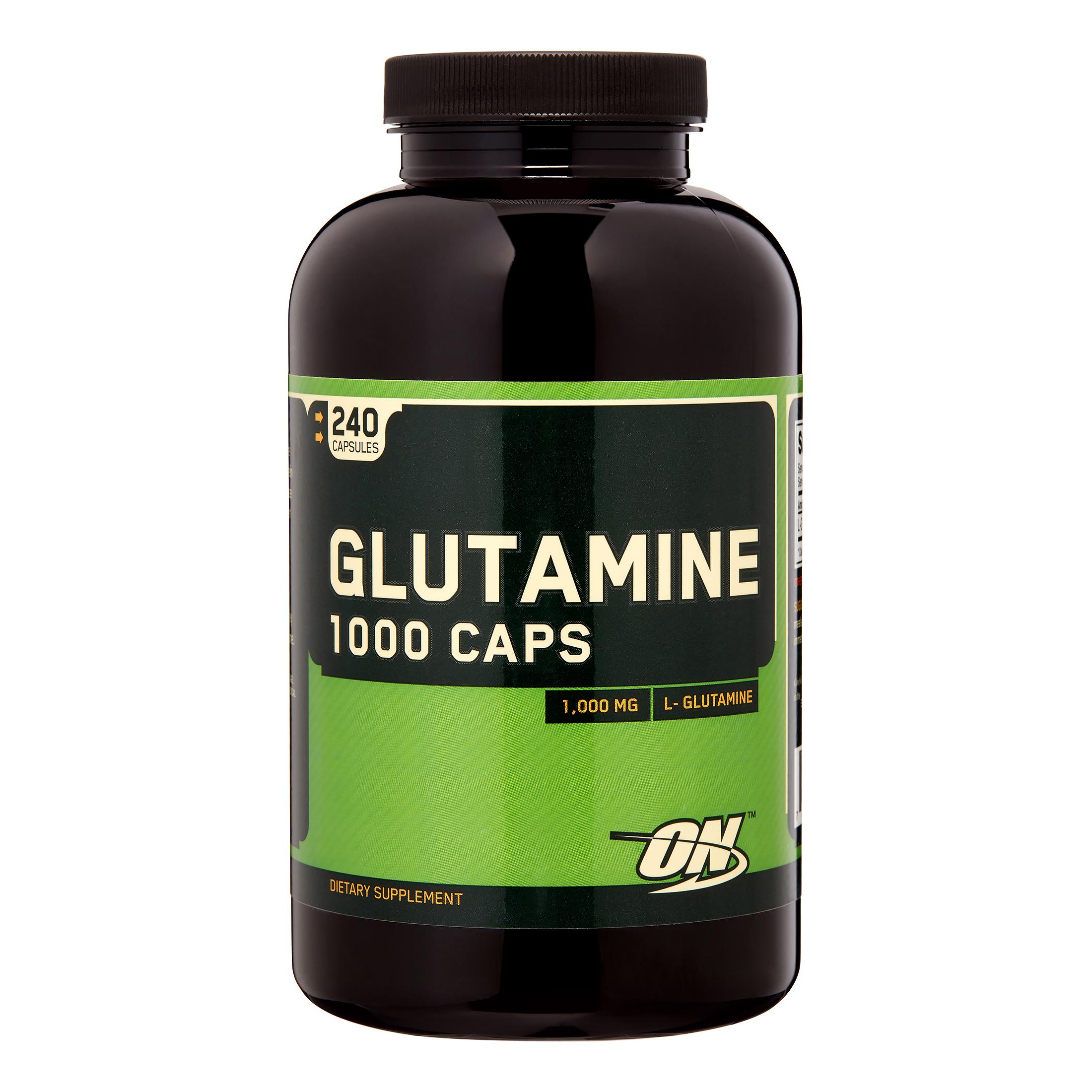 Optimum Nutrition Glutamine 1000 MG Capsules, 240 Ct