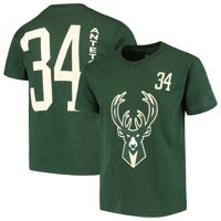 ce12f758d Product Image Giannis Antetokounmpo Milwaukee Bucks Youth Name & Number T- Shirt - Hunter Green