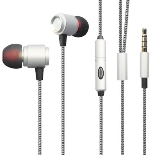 Premium Hi-Fi Sound Earbuds Hands-free Earphones Mic Dual Metal Headphones Headset Compatible With Huawei Mate SE