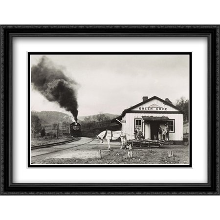 Maud Bows to the Virginia Creeper 2x Matted 36x28 Large Black Ornate Framed Art Print by O. Winston (Maud Bows)