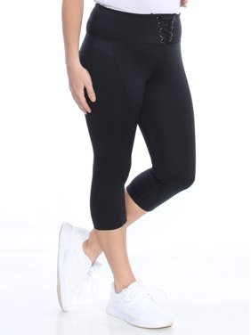 b592f30c24097 Product Image MATERIAL GIRL Womens Black Lace Up Active Wear Leggings  Juniors Size: M