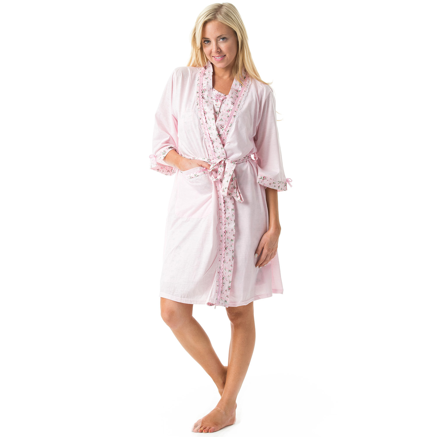 Casual Nights Women's Sleepwear 2 Piece Nightgown and Rob...