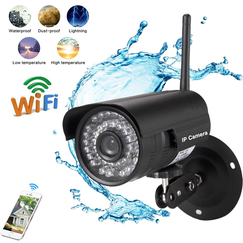 Zimtown Digital Wireless NVR Outdoor Indoor Security System with Long-Range Night Vision IP Camera