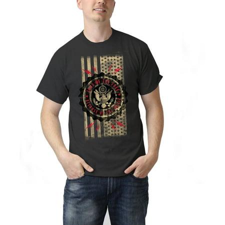 American Flag Mens Graphic Tee Shirt