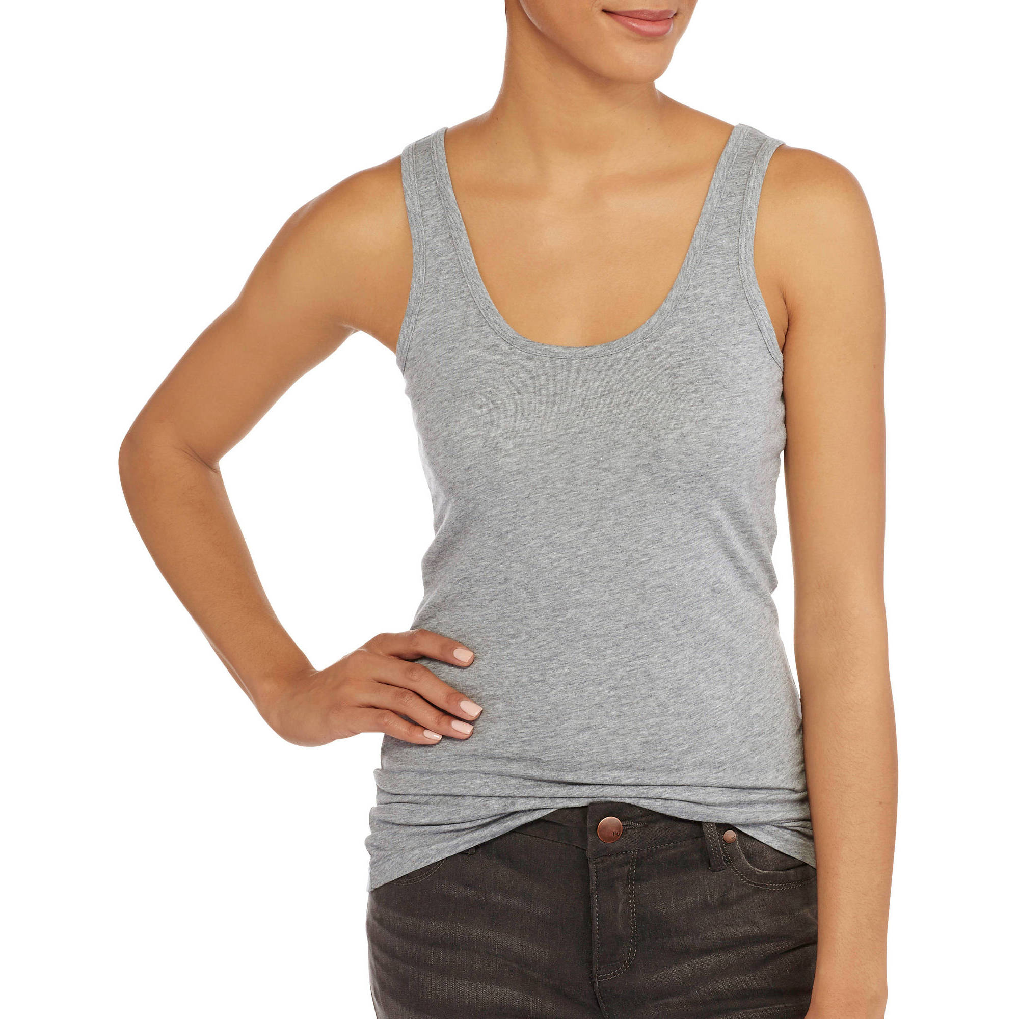 No Boundaries Juniors' Scoop Neck Tank