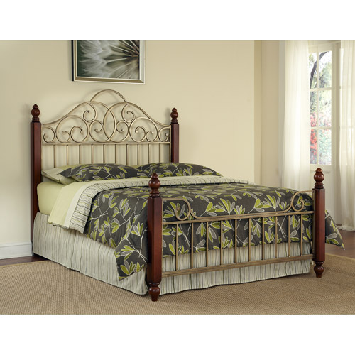Home Styles St. Ives King Bed, Cinnamon/Cherry/Aged Gold