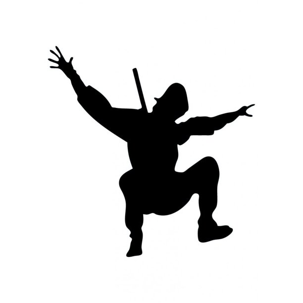 Wallmonkeys Action Ninja Silhouette - 7 Peel and Stick Wall Decals ...