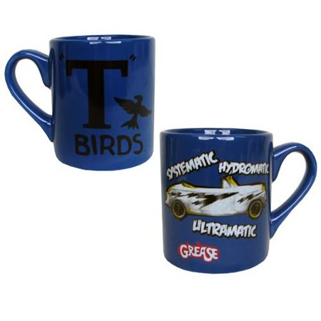 Grease Movie T-Birds Systematic, Hydromatic, Ultramatic Ceramic 14 Ounce Coffee - T Birds Grease