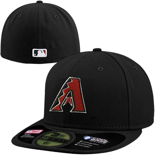 Men's New Era Black Arizona Diamondbacks AC On-Field 59FIFTY Alternate Performance Fitted Hat