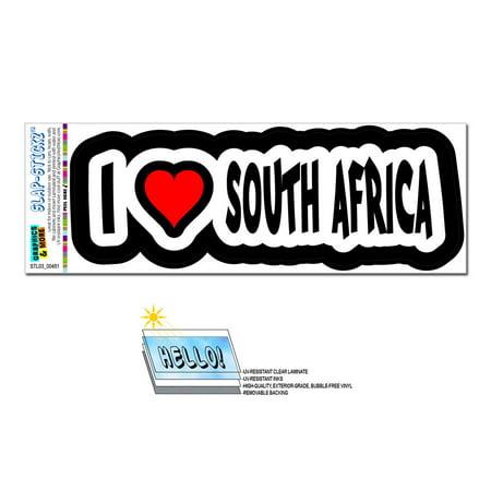I Love Heart South Africa SLAP-STICKZ(TM) Premium Sticker - I Heart Ny Sticker