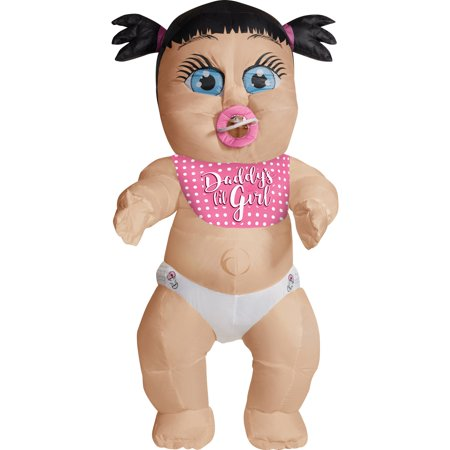 Adult Daddy's Girl Inflatable Baby Costume - Costume Of A Baby
