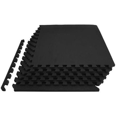 Everyday Essentials Flooring Puzzle Exercise Mat with High Quality EVA Foam Interlocking Tiles, 6 Piece, 24 Sq Ft,