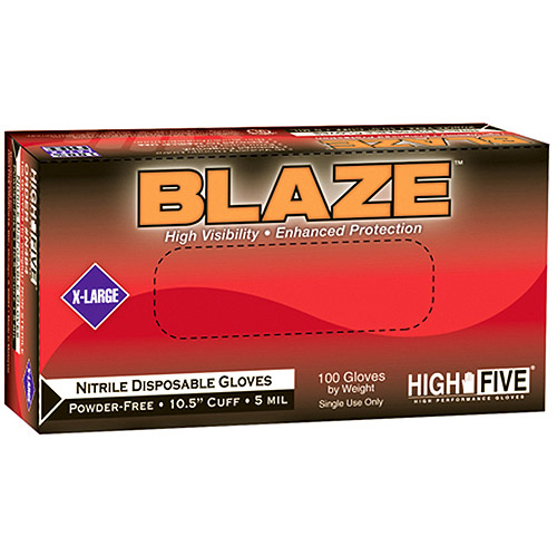 "Blaze 10.5"" Nitrile Exam Gloves Small 1000 Count Case"