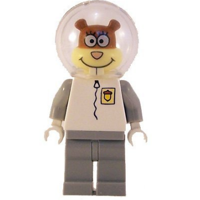 LEGO Spongebob Sandy Cheeks Minifigure NEW only handled for sorting.