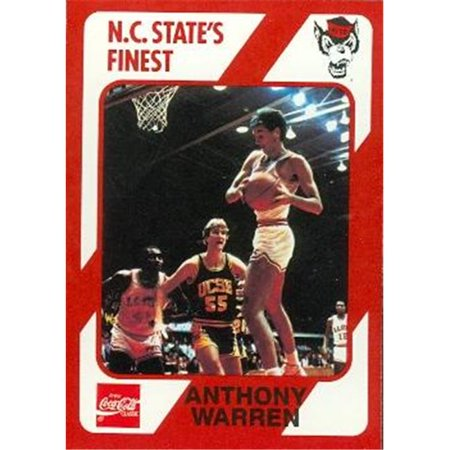 Anthony Warren Basketball Card (N.C. North Carolina State) 1989 Collegiate Collection No.123