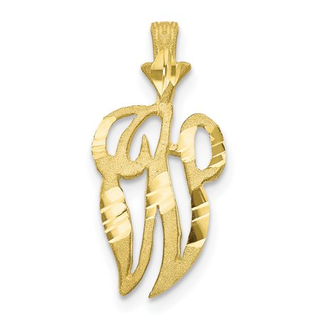 10K Yellow Gold Initial W Charm - image 3 of 3