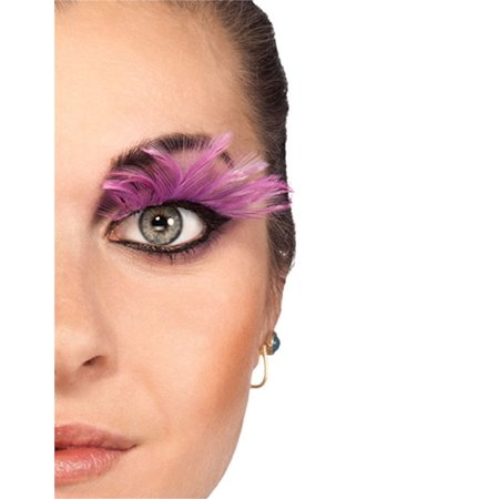Women's  Long Pink Full Feathery Fake Costume Eyelashes