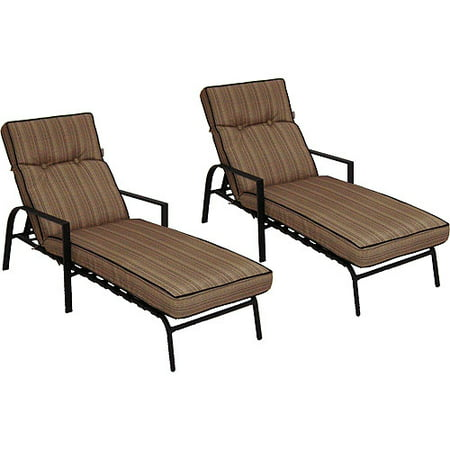 mainstays braddock heights ii chaise lounges set of 2