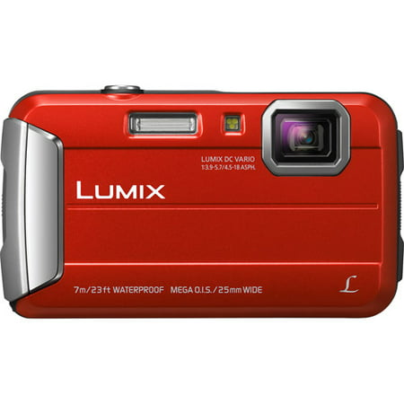Panasonic Red Lumix DMC-TS25R Digital Camera with 16.1 Megapixels and 4x Optical Zoom