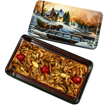 Grandma's Famous Fruit and Nut Cake 1 Pound in Collectible Tin ()