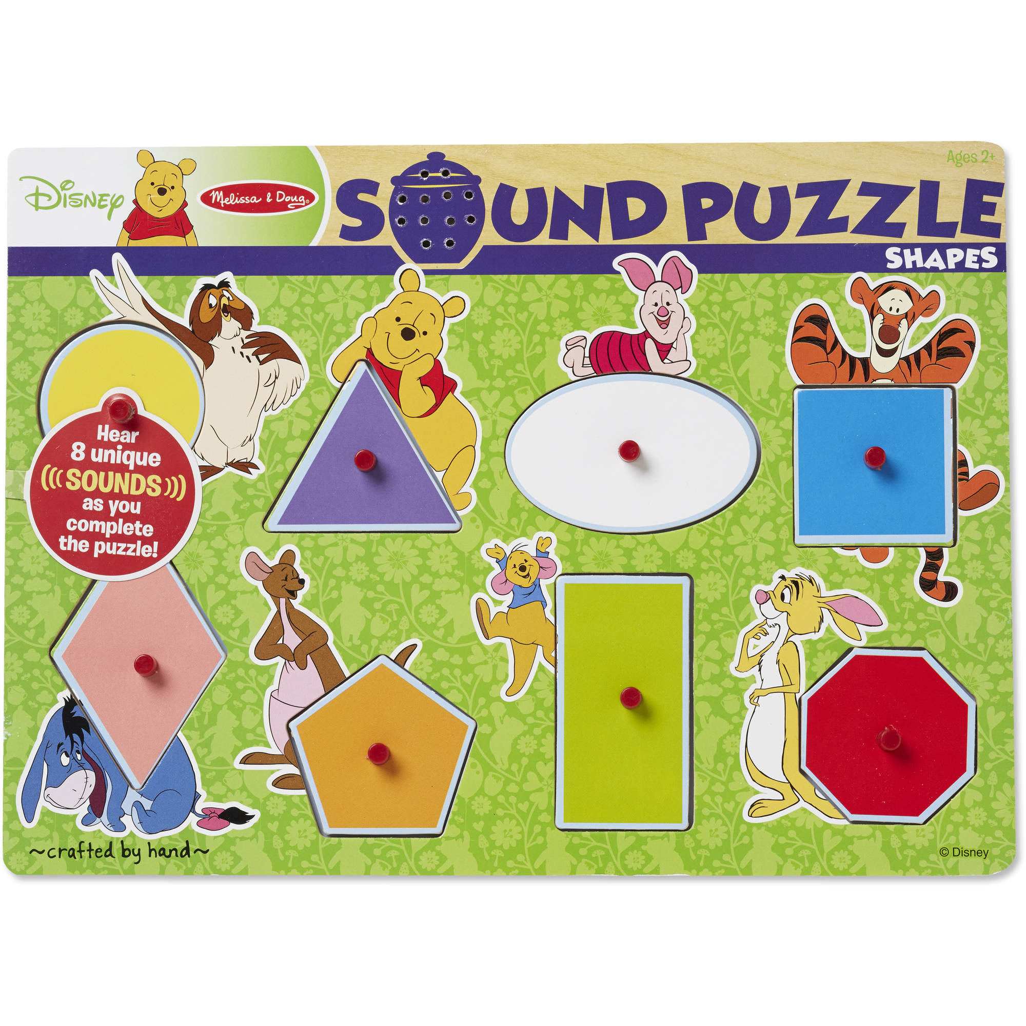 Winnie The Pooh Shapes Wooden Sound Puzzle