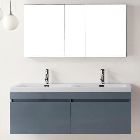 virtu usa zuri 55 inch grey double sink bathroom vanity. Black Bedroom Furniture Sets. Home Design Ideas